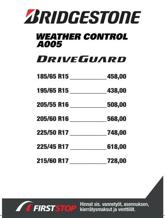 Bridgestone Weather Control A005 DriveGuard
