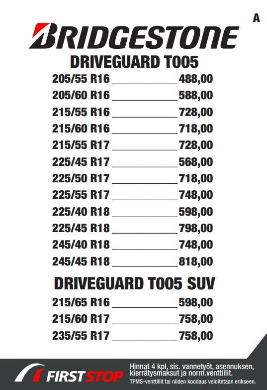 Bridgestone Driveguard T005